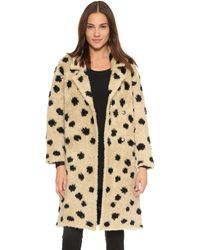 Thakoon Addition - Ocelot Coat - Beige/black - Lyst