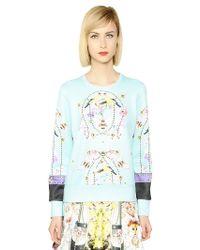 Piccione.piccione | Printed Neoprene Sweatshirt | Lyst