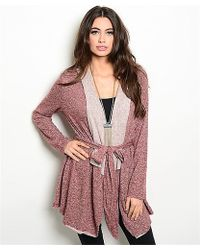 Leather And Sequins - Cozy Tie Sweater Jacket - Lyst
