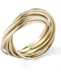 Cartier Pre-owned 18ky Gold 6 Band Trinity Style Ring - Lyst