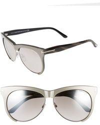 Tom Ford Women'S 'Leona' 59Mm Sunglasses - Pearl Dove Grey/ Ruthenium - Lyst