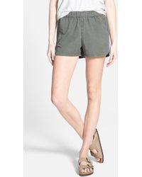 Madewell Track Shorts green - Lyst