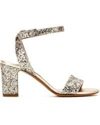 Tabitha Simmons Leticia Glitter Sandals - Lyst