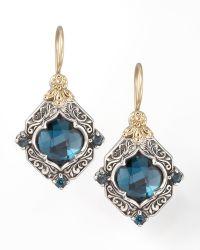Konstantino London Blue Topaz Drop Earrings - Lyst