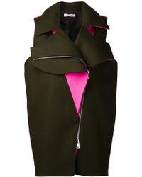 Bouchra Jarrar - Sleeveless Asymmetrical Zip Vest - Lyst