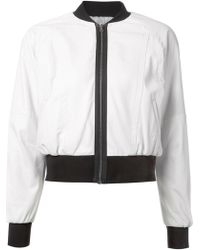 Yigal Azrouel Cropped Bomber Jacket - Lyst