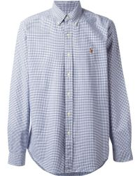 Polo Ralph Lauren Blue Checked Shirt - Lyst