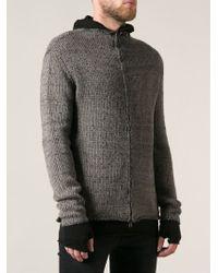 Lost & Found - Zipped Knit Jacket - Lyst