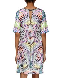 Ranna Gill - Geometric Mixed-media Shift Dress - Lyst