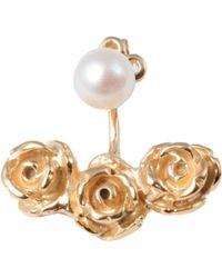 Leivan Kash - Rose Ear Jacket Gold - Lyst