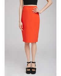 Forever 21 Classic Pencil Skirt - Lyst