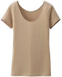 Uniqlo Women Airism Scoop Neck Short Sleeve T-Shirt - Lyst