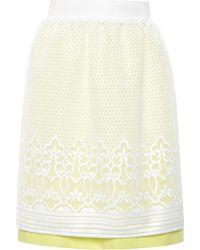 Ostwald Helgason Embroidered Skirt - Lyst