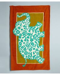 Hermes Green Elephant Print Cotton Beach Towel - Lyst