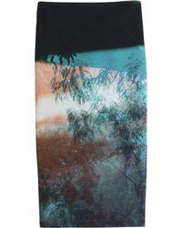 McQ by Alexander McQueen Contour Printed Cotton Skirt - Lyst