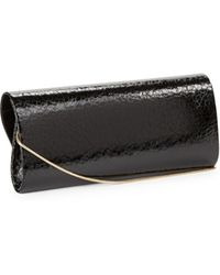 Belle By Badgley Mischka - Textured Faux Leather Clutch - Lyst