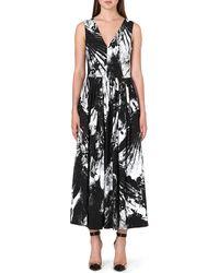 Preen Floral Maxi Dress Bw Bird - Lyst