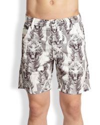 Diesel Kroo Tiger Print Beach Swim Shorts - Lyst