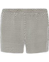 Equipment - Landis Printed Washed-silk Shorts - Lyst