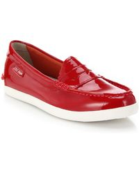 Cole Haan Pinch Weekend Patent Leather Loafers - Lyst