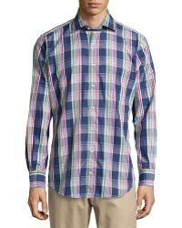 Peter Millar Plaid Woven Sport Shirt - Lyst