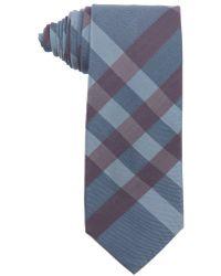 Burberry Blue And Burgundy Nova Check Silk Tie blue - Lyst
