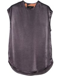 By Malene Birger Tenira Grey Sleeveless Top - Lyst