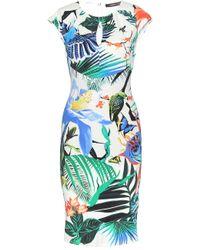 Roberto Cavalli Printed Stretch Dress - Lyst