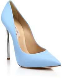 Casadei | Leather Blade-heel Pumps | Lyst