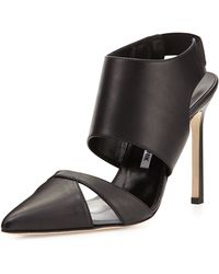 Manolo Blahnik Loyalclo Anklewrap Leather Pump - Lyst