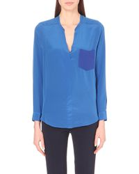 Sandro Long-Sleeved Silk Blouse Top - Lyst