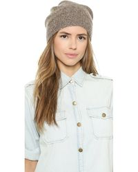 Alice + Olivia Alice  Olivia Sequin Knit Hat - Tan - Lyst
