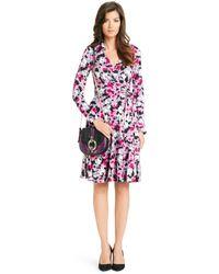 Diane von Furstenberg Pop Wrap Limited Edition T72 Silk Jersey Wrap Dress pink - Lyst