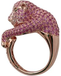 Wendy Yue - Pink Sapphire Panther Ring - Lyst