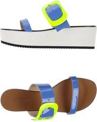 Vicini Tapeet Blue Sandals - Lyst