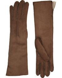 Barneys New York | Shearling-lined Long Gloves | Lyst