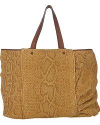 Zagliani | Python Maysun Large Shopping Bag | Lyst