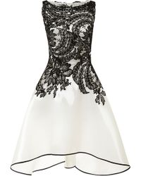 Naeem Khan Liquid Organza Dress With Lace Bodice - Lyst