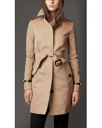 Burberry Straight Fit Trench Coat - Lyst