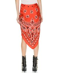 Moschino Bandana Skirt - Red Multi - Lyst
