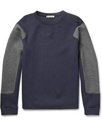 Marni Two-Tone Cotton-Blend Jersey Sweatshirt - Lyst