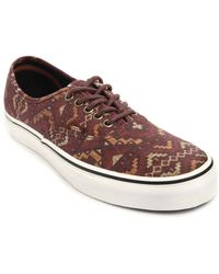Vans Authentic Aztec Motif in Red - Lyst