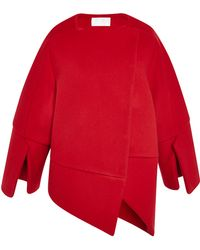 Antonio Berardi Scarlet Red Double Coating Wool Coat - Lyst