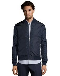 Gucci Blue Diamante Nylon Reversible Bomber Jacket - Lyst
