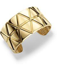 Marina B - 18k Yellow Gold Triangoli Cuff Bracelet - Lyst