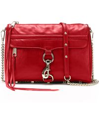 Rebecca Minkoff Red Mac Clutch - Lyst