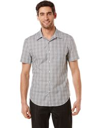 Perry Ellis Modern Fit Uneven Plaid Sport Shirt - Lyst