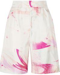Matthew Williamson Printed Silk-Twill Shorts - Lyst