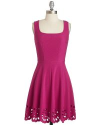 Mystic Fashion Eyelet Getaway Dress In Fuchsia - Lyst