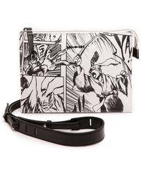 McQ by Alexander McQueen Printed Cross Body Bag  White Manga - Lyst